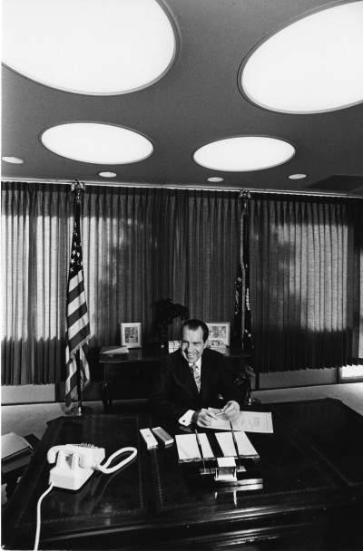 President Richard Nixon signs the National Environmental Policy Act