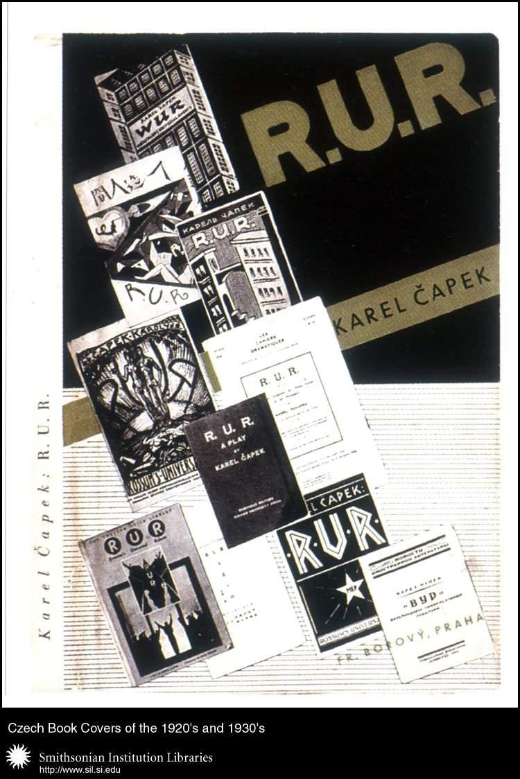 Czech book covers of R.U.R.