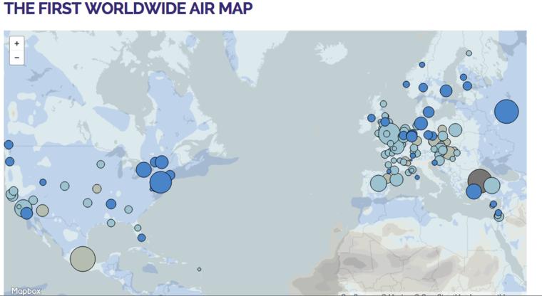 Plume worldwide air map
