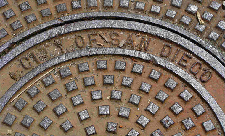 San Diego manhole cover