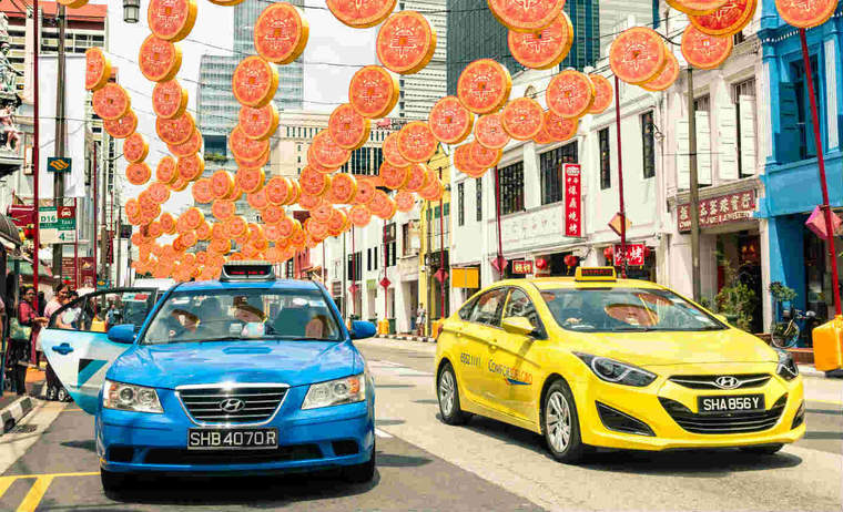 Singapore decorated for Chinese New Year