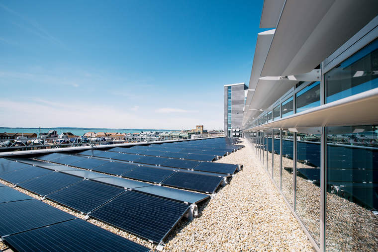 Solar panels at Portsmouth