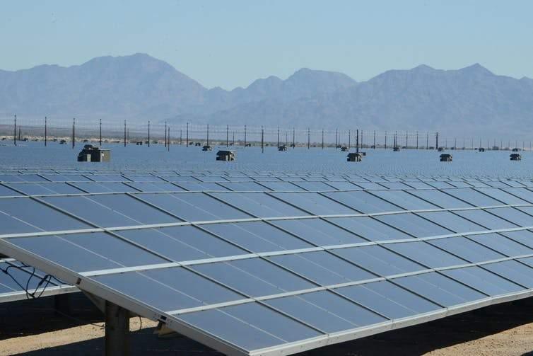 solar plant in the Mojave Desert in California
