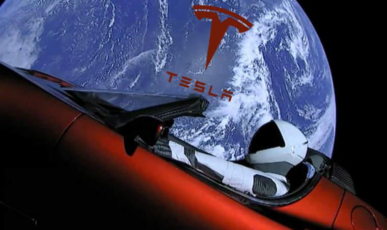 SpaceX Tesla rocket
