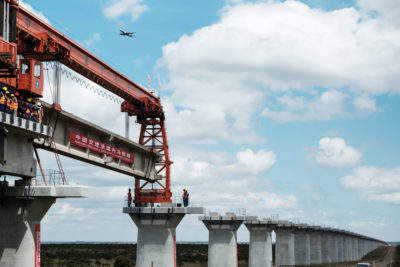 The Chinese-funded Standard Gauge Railway in Kenya
