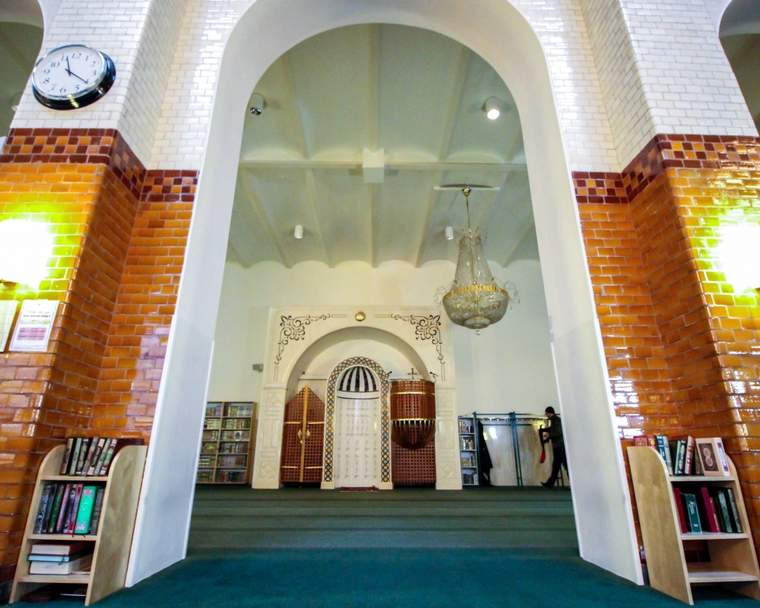 A doorway at the Stockholm Mosque