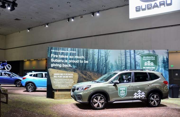 Subarus at LA car show
