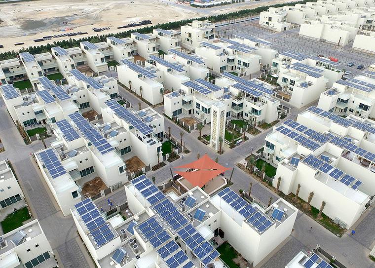 Solar panels, Sustainable City, Dubai