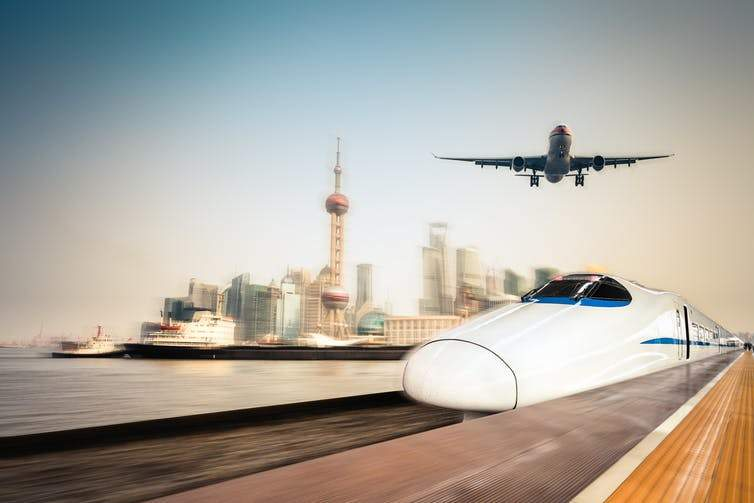 Synchronized air and rail services