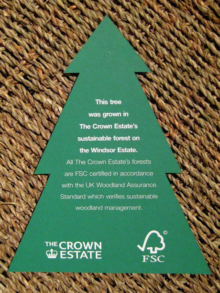 FSC-approved Christmas tree tag
