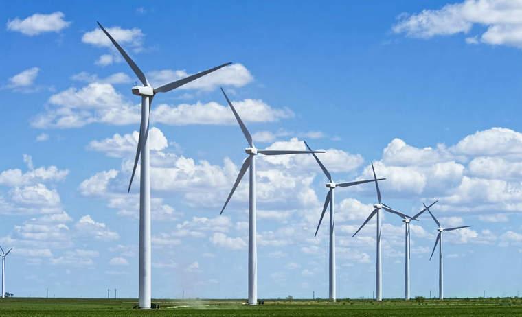 Wind farm in West Texas