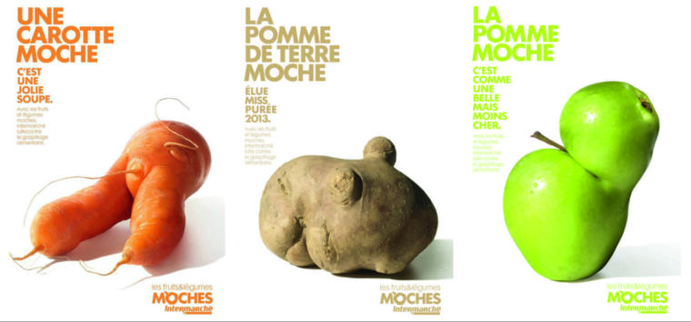 The ugly fruit campaign by French supermarket Intermarché