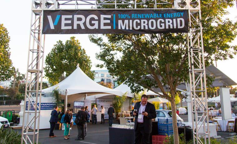 VERGE microgrid sign