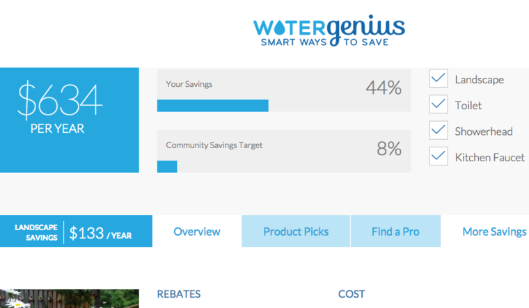 WaterGenius screen shot