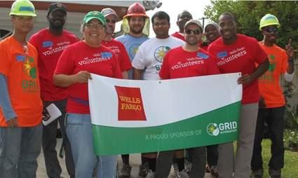 GRID Initiative team accepts award from Wells Fargo