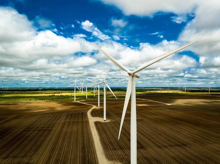 A wind farm in Texas