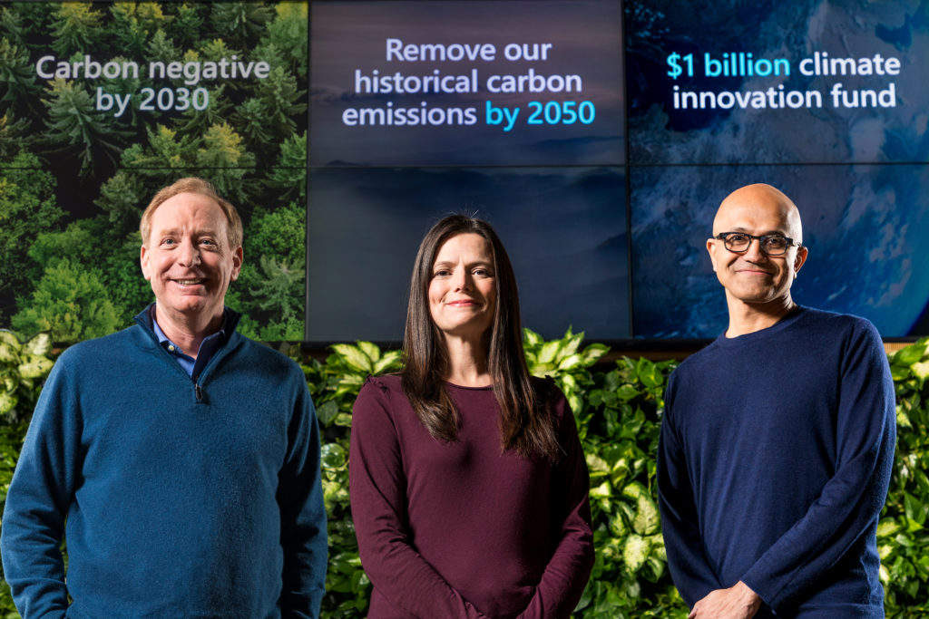 Microsoft's quest to go 'carbon negative' inspires $1B fund