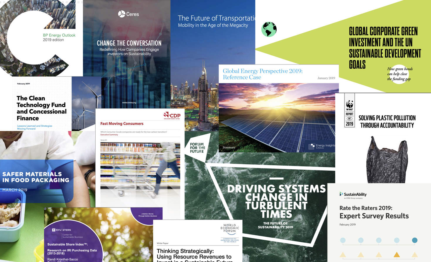 Report Report: Food waste, investing, transportation, systems change, plastic pollution