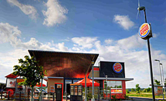 New Burger King Restaurant Powered By Wind And Solar Energy