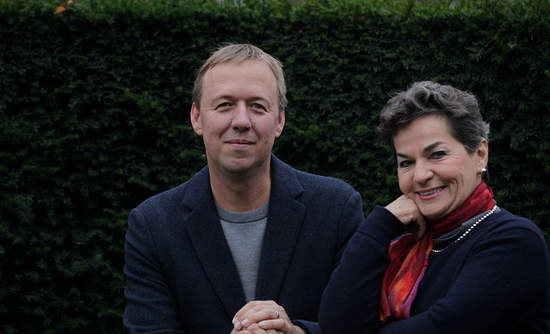 "Christiana Figueres and Tom Rivett-Carnac, authors of ""The Future We Choose: Surviving the Climate Crisis."""