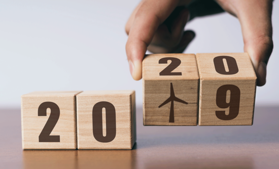 blocks that say 2019 turning over into 2020