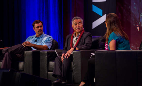 Hawaii Governor David Ige, and Executive Director and Chief Resilience Officer City and County of Honolulu, Office of Climate Change, Sustainability and Resiliency, Joshua Stanbro