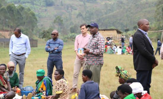 DSM executives visit AIF project in Rwanda.