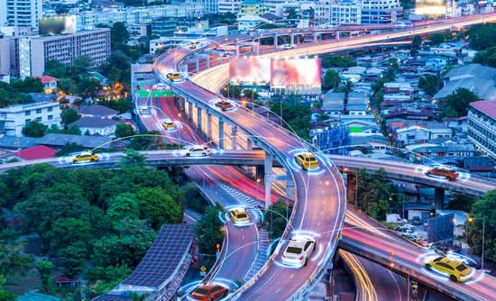 Autonomous vehicles driving in a metropolitan city