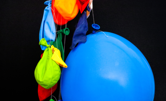 Balloons, inflated and deflated