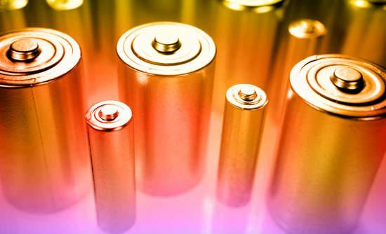 Batteries in a warm light