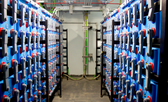 view of a battery room