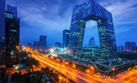 Night in Beijing City, China