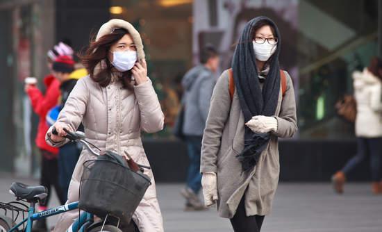 Women wearing face masks in Beijing