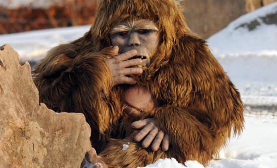 Bigfoot puppet at Granby Zoo, Quebec