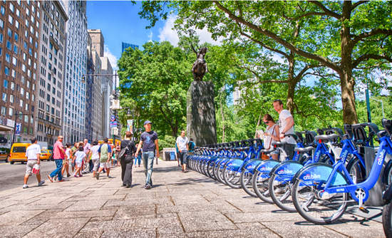 Citi Bike docking station in New York.