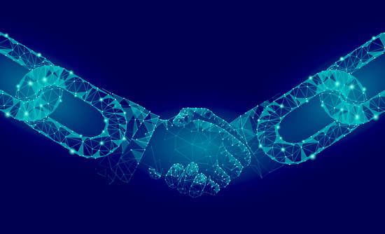 Blockchain links working together