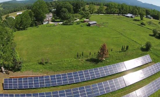 Boardman Hill Solar Farm aerial view