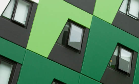 Green building shows several units