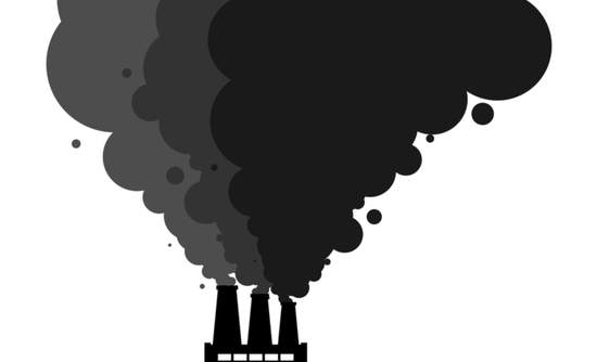 Illustration of carbon emissions
