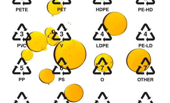 chemical recycling and oil drops
