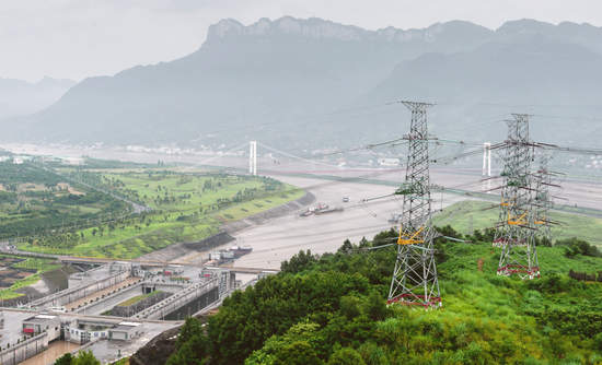 Power plants in China on the Three Gorges river