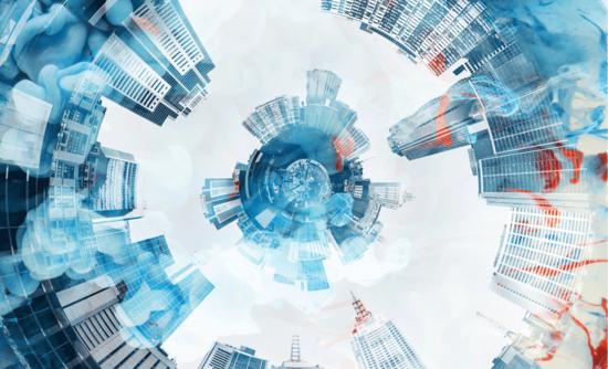 panoramic circular view of city