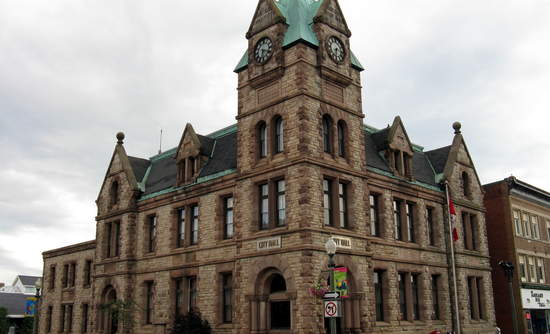 City Hall in Woodstock, Ontario.