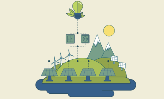 Illustration of clean energy