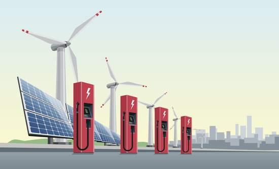 Clean energy, EV, concept