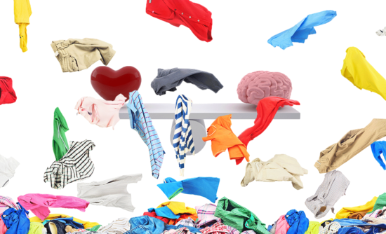 Clothing Falling In Front Of A Scale