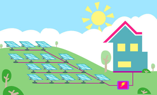 Illustration of community solar