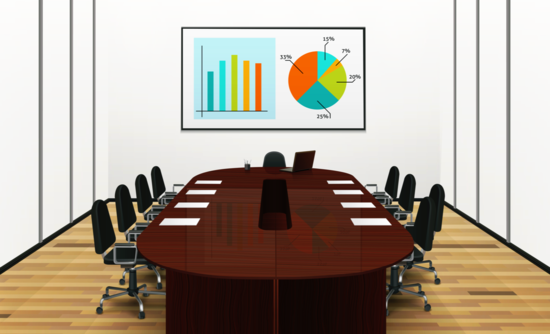 Conference room with meeting