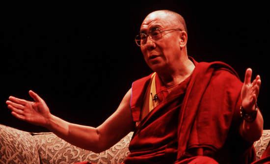 Dalai Lama giving a speech