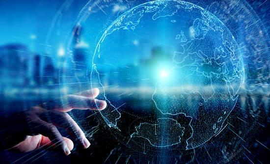 big data on a globe